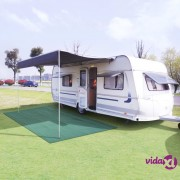 vidaXL Tepih za šator 250 x 300 cm zeleni