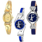 Looking Analog Peris AKS Combo Pack Of 3 Multicolour Fashion Design watches women watches ladies watches girls watches