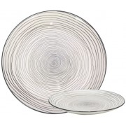 Gusta bord rond Swirl -out of the grey ø21cm