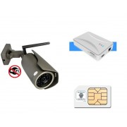 Pack videovigilancia exterior con zoom sin ADSL (con tarjeta SIM)