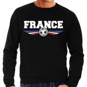 Bellatio Decorations Frankrijk / France landen / voetbal trui met wapen in de kleuren van de Franse vlag zwart voor heren XL - Feesttruien