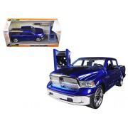 "2014 Dodge Ram 1500 Pickup Truck Blue ""Just Trucks"" With Extra Wheels 1/24 By Jada 97691"