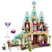 Generic Cartoon Princess Ariel Mermaid Elsa Magical Ice Castle Cinderella Girl Figure Set Building Block Bricks Toy C