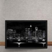 Quadro Decorativo Luzes Noturna da Cidade 25x35