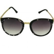 Mangal Brothers Oval Sunglasses(Black)
