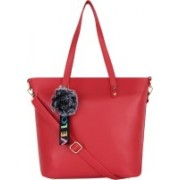 Don Cavalli Womens PU Leather Handbag Red Messenger Bag