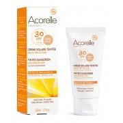 Био слънцезащитен, тониращ и антиоксидантен крем за лице и тяло, SPF30 Acorelle 50 мл (златен цвят)