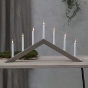 Arrow candleholder, flat, 7-bulb, grey