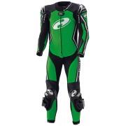 Held Full Speed Traje de cuero de motocicleta de una sola pieza Negro Verde 50