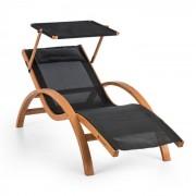 Blumfeldt Acapulco Trädgårdsstol med tak ComfortMesh Belastning: 150kg svart