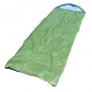 Sac pentru Dormit cu Perna tip Gluga pentru 1 Persoana, Culoare Verde