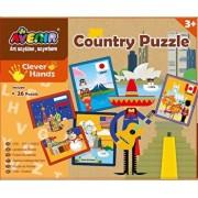 Set 26 puzzle-uri - Tari, 52 piese