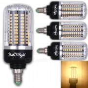Youoklight E14 12W 120 SMD-5736 LED bombilla de maiz blanco caliente (4Pcs)