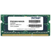 Memorie Laptop Patriot SODIMM, DDR3, 1x8GB, 1600 MHz, CL11