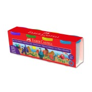 Plastilina 4 culori/set, 4x130g, culori clasice, FABER CASTELL