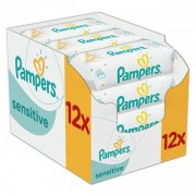Pampers vlažne maramice Sensitive 12 x 56 komada