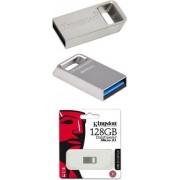 USB memorija 128 GB Kingston DTMicro USB 3.1/3.0 Type-A metal ultra-compact flash drive, EAN: '740617242928