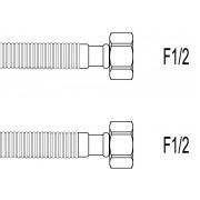 """Racord flexibil apa INOX gofrat F1/2""""xF1/2"""", 100 cm, Techman GWS9"""