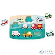 Hape Fogantyús Puzzle - Szirénázó Jármű (Hape, HP E1406A)
