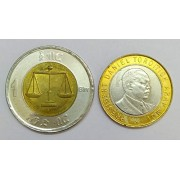 World Coins ~ Africa ~ Kenya & Ethiopia 2 Different Bi-Metallic or Bimetal Coins for Collection