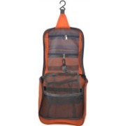 PackNBuy Cosmetic Hanging Bag for Toiletries Shave Make Up Kit pouch -(Orange)