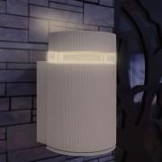 vidaXL Candeeiro parede semicilíndrico p/ exterior alumínio cinzento