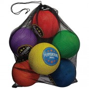 Franklin Sports 6 Pack Playground Balls with Mesh Carry Bag & Pump