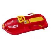 Snow Boat riaditeľný bob - červený