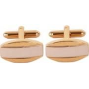 Bezel Brass Cufflink Set(Gold)