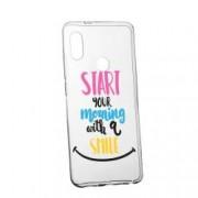 Husa Silicon Transparent Slim Smile At Morning Xiaomi Mi 8
