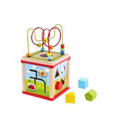 Tooky Toys Play Garden Cube 5 in 1 Activity Center, Shape Sorter, Counting & Beads Maze, Mirror Coaster * *-Sameday Dispatch-Tkf007-S11