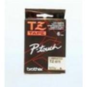 Märkband TZe431 12mm sva/röd