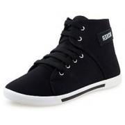 Chevit Mens Black Lace-up Sneakers