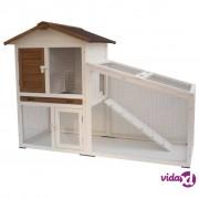 """@Pet @Pet @Pet Kavez za zečeve """"Tommy"""" bijelo-smeđi 140x65x100 cm 20072"""