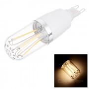 G9 6W 6-COB LED bombilla lampara de luz blanca caliente - blanco (ac 85 ~ 265V)