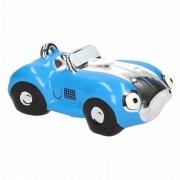 Geen Spaarpot blauwe sportauto cabriolet 14 cm