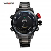 WEIDE Popular Brand 2309 Watches Men's Casual Watch Dual Time Zone Analog Digital Multifunction Sports Waterproof Wristwatches
