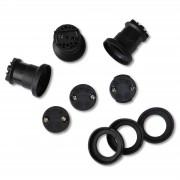 Set of 3 E27 Sockets for illumination cable