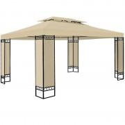 Pawilon 3x4 Namiot Ogrodowy Stelaż Metal Kremowy