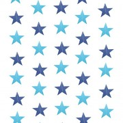 4M Twinkle Stars Tassel Garland Banner Bunting Paper Star Hangings Drops for Celebration Wedding Birthday Party Decoration (Sky-Blue)