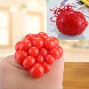 5cm Anti - Estres Relevista Extrusión Compresión Cara De Bola De Humor Sano Uva Socorro Gracioso Tricky Vent Toy Con La Anilla De Colgar (rojo)