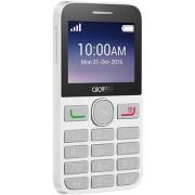 Telefon Mobil Alcatel 2008G, QVGA 2.4, 8MB RAM, 16MB Flash, 2G (Negru/Alb) + Cartela SIM Orange PrePay, 6 euro credit, 6 GB internet 4G, 2,000 minute nationale si internationale fix sau SMS nationale din care 300 minute/SMS internationale mobil UE