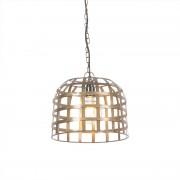 QAZQA Przemysłowa lampa wisząca 30 rdza - Fence