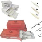 MUMBAI TATTOO NEEDLES 5RL 7RS 7M1 ROUND MAGNUM LINER SHADER WITH TIPS 5RT 7RT 7MFT (PACK OF 3 RED BOX 3 BOX TIPS)