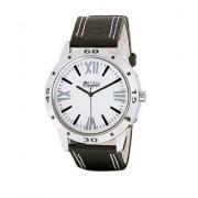 Mark Regal Black Leather Strap Men's Quartz Watch