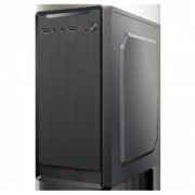 Carcasa RPC M0000CA, fara sursa, Mini Tower ATX, 2xUSB2.0, vent. opt.: spate 1x8cm, lateral 1x12cm, fata 1x12cm, HD audio, 2.4kg, negru