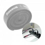 Curea Velcro pentru organizarea cablurilor , Baseus , 1m , gri
