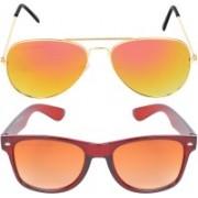 Aligatorr Wayfarer, Aviator Sunglasses(Golden)