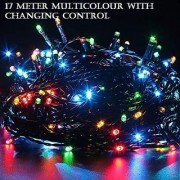 Diwali Decorative 17 Meter (multi 20no./85) LED String Lights Serial Bulbs with changing control - Multi Color