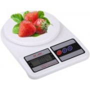 Kitchen India ™ SF400 1g-10kg Chef-Mate Kitchen Scale Q2 Weighing Scale(White)